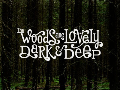 The Woods are Lovely quote lettering hand lettering hand drawn typography type custom type custom lettering