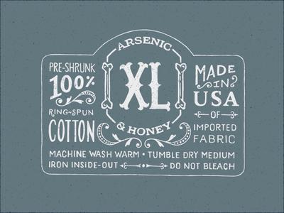 Arsenic & Honey - Garment Label