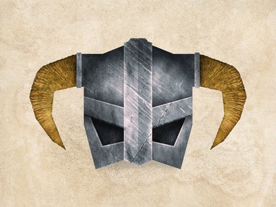 FUS RO DAH dragons video games iron helm texture dovahkiin fus ro dah bethesda skyrim illustration