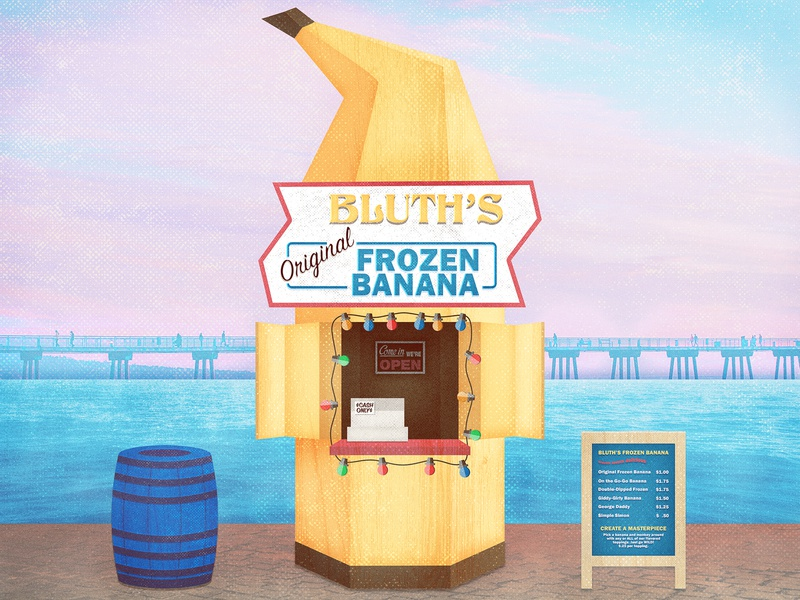 Banana Stand bluth banana noise arrested development grunge texture banana stand illustration