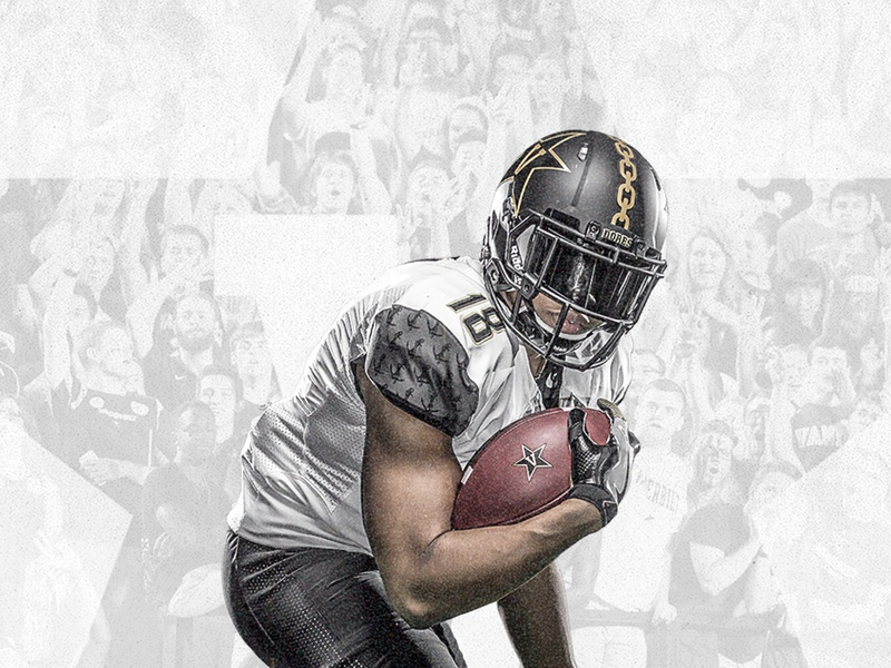 Vanderbilt Football sports graphics sports american football football email development email design ux ui ux ui email campaign email marketing email