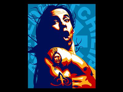 Anthony Kiedis 2-d branding graphicdesign vector art vector illustration design vector
