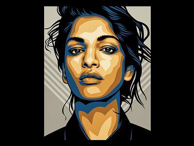 M.I.A. vectorart vector illustration graphicdesign vector design illustration