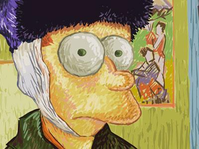 Fry Gogh  fry illustration flash digital painting van gogh