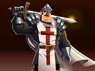 Crusader  cowboy illustration cartoon animation character design flash