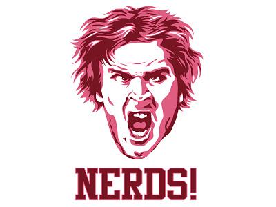 NERDS! illustration design humor poster movie nerd revenge of the nerds