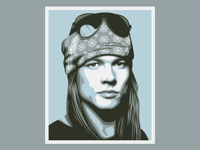 Axl Rose vector illustration 2-d graphicdesign branding design vectorart vector illustration