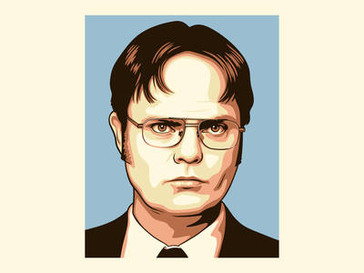 Dwight Schrute digital painting branding graphicdesign illustration character vector illustration vector design vector the office dwight schrute
