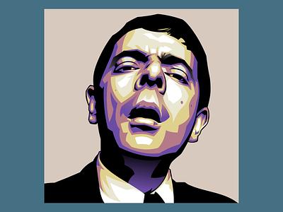 Rowan Atkinson animation digital painting illustration logo branding graphicdesign design vectorart vector illustration vector