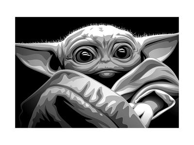 Baby Yoda 2-d cartoon vectorart vector illustration design graphicdesign animation character vector illustration starwars babyyoda yoda