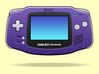 Game Boy Advance nintendo videogames design vector 2-d vector illustration vectorart graphicdesign illustration