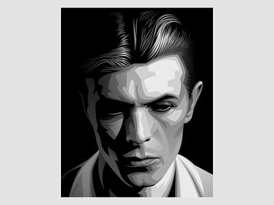 David Bowie 2-d digital painting illustration vectorart graphicdesign design vector illustration vector