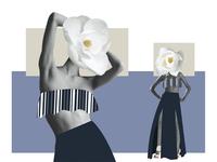 Fashion design collage