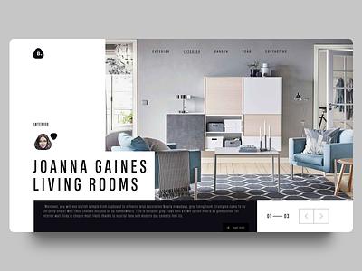 BAAN WEBSITE - Interior page design designer web design typography logo branding interior ui inspire website home