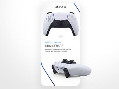 The new dual sense controller design product mobile app controller playstation dualshock sense dual ps5