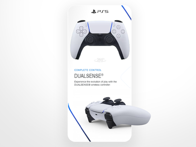 The new dual sense controller design product mobile app controller playstation dualshock sense dual ps5