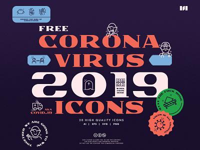 FREE!! CORONAVIRUS (COVID-19) ICONS line illustration vector design iconset icon icons covid coronavirus covid-19 freebies free