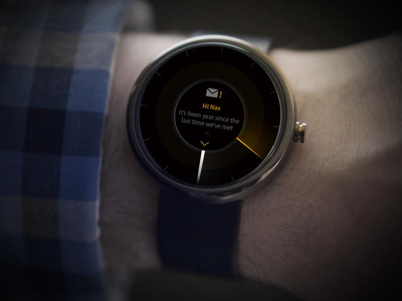 Android watch Concept android watch concept time mail ui wear alert clock