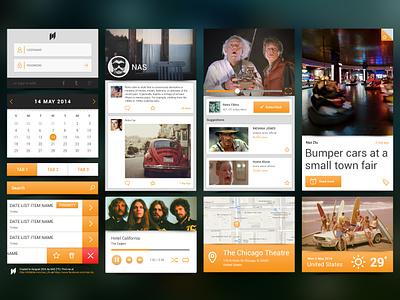 Mobile UI Kit  [freebie] ui kit free psd ios iphone set mobile login weather image style