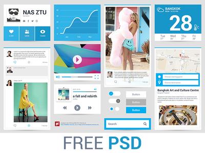 Freebie PSD : Flat Ui