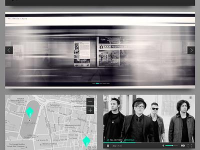 [Freebie] Black & Turquoise Ui Kit turquoise black ui kit set free app website rock flat clean green