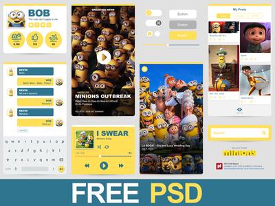 Freebie PSD : Minions Ui