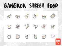 FREEBIE - BANGKOK STREET FOOD ICONS