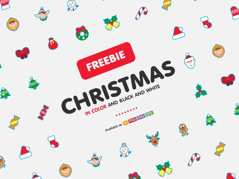 Freebie!! Christmas icons iconset festival free color cute set xmas icons christmas freebie
