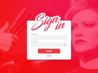 Daily UI challenge #001 - Sign in