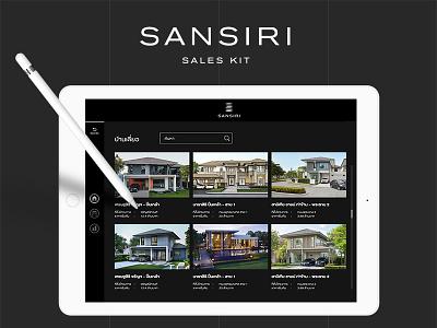 SANSIRI Sales kit typography design app xd layout property dark mobile kit ui kit sales tablet