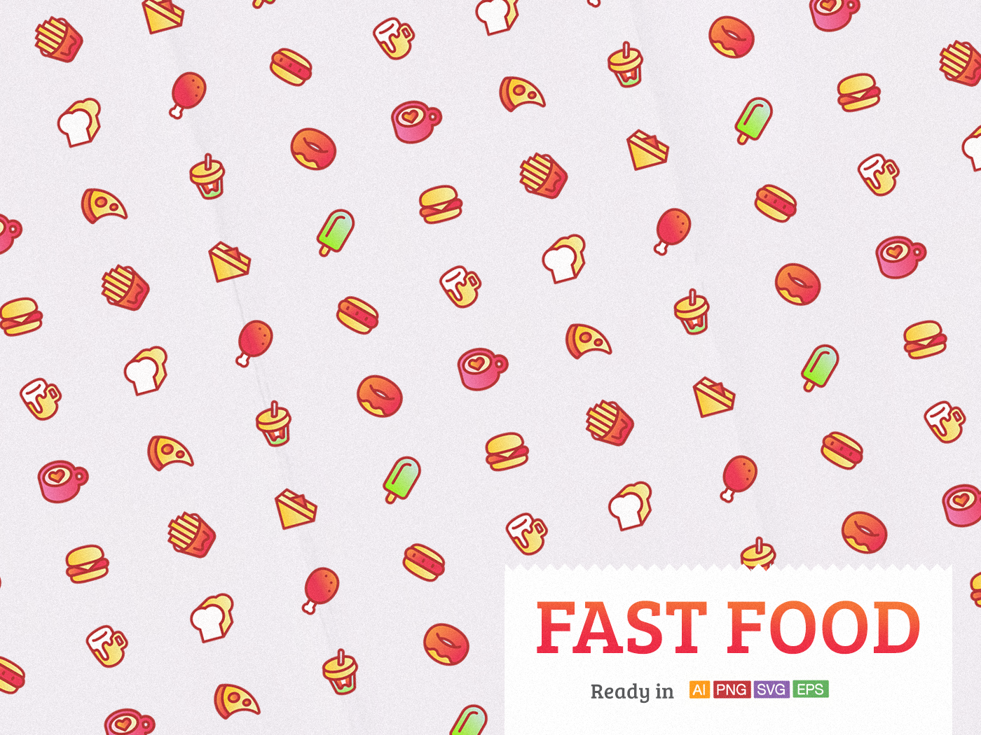 Fast Food lunch sandwich bread hamburger vector icon coffee food pop drink