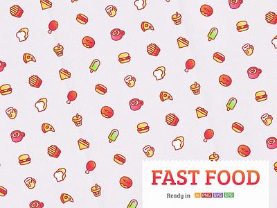 Fast Food lunch sandwich bread hamburger vector icon coffee food pop drink