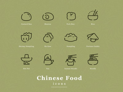 Chinese Food icon illustration line food china vector icon chinese
