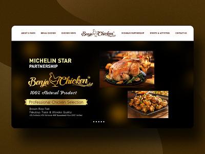 Benja Chicken food design branding ui mobile web benja chicken