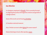 Personal website in #ff0010