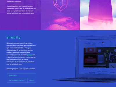 Colorzone 2 portfolio website web