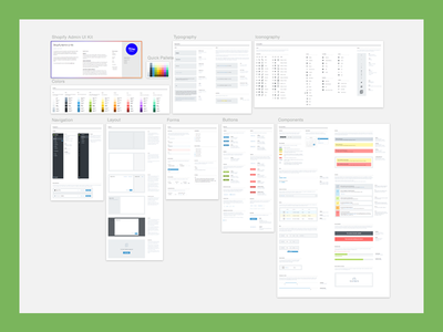 Shopify Admin UI Kit sketch shopify ui elements components style guide ui kit