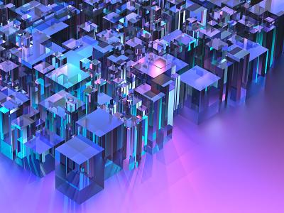Glass metropolis 80h cinema4d 3d art
