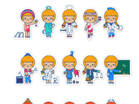 Pinar milk stickers characters