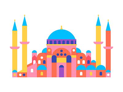 Hagia Sophia illustration ayasofya istanbul hagiasophia museum