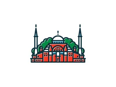 Hagia Sophia turkey türkiye hagia sophia basilica mosque museum istanbul icon illustration ayasofya muze church byzantine constantinople symbolicities symbolicistanbul