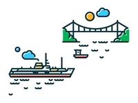 Ferry & Bosphorus Bridge