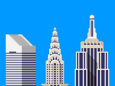 The Wall Street Journal, Mansion Section citi group empire citigroup center chrysler empirestate state building skyline wsj wall street journal illustration
