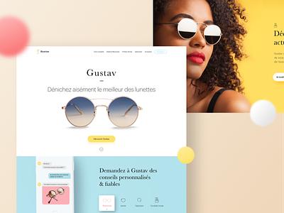 Gustav Homepage 👓 web vector ux ui product lettering design branding app 3d