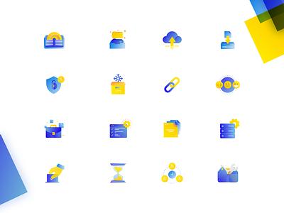 IceScrum Icons gradient web branding vector icon ui design logo illustration