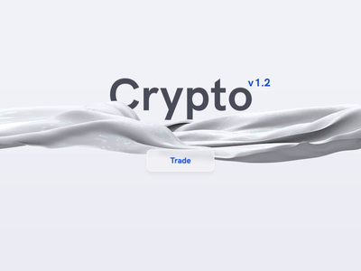 Crypto v1.2 loader identity icon concept white minimal lettering vector website animation branding 3d c4d motion ui ux typography design