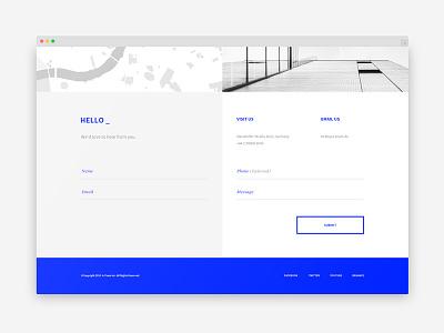 A-Team contact form blue form contact ux ui portfolio a-team homepage agency website