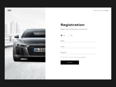 myAudi registration