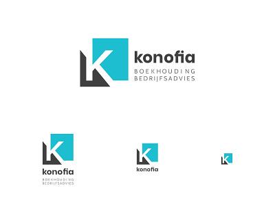 Konofia - responsive logo design brand identity k letter teal business accounting logotype logo