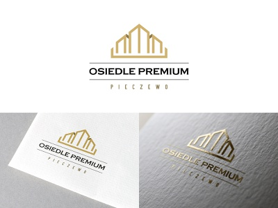 Osiedle Premium developer home building classy gold crown premium houses brand logotype logo design brand identity identity branding brand design branding logo